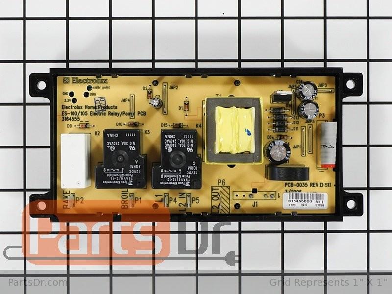 316455400 Frigidaire Range Oven Control Board Parts Dr