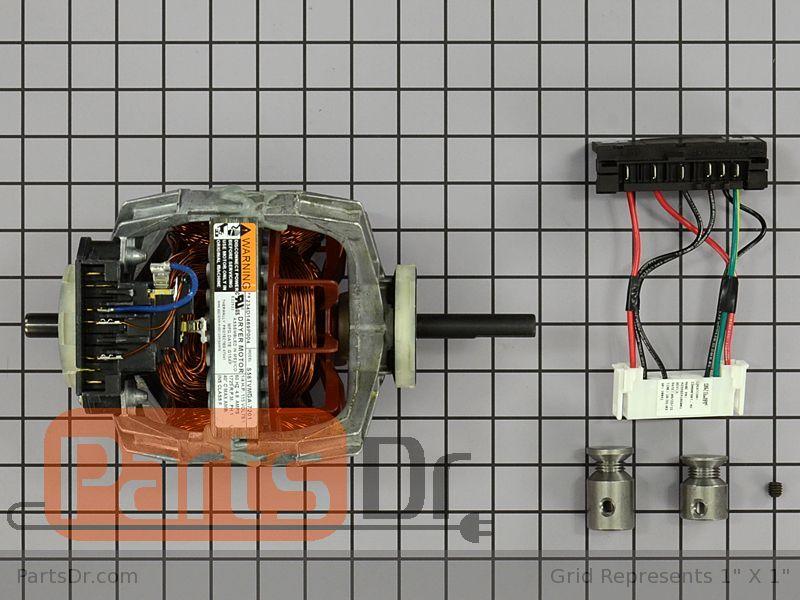 we17x10010 ge clothes dryer motor kit parts dr. Black Bedroom Furniture Sets. Home Design Ideas