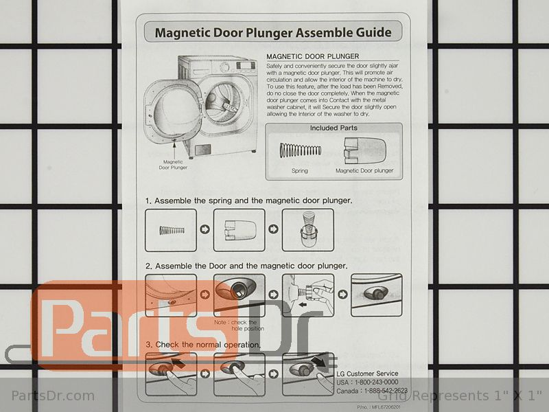 Agm73610701 Lg Magnetic Door Plunger Kit Parts Dr