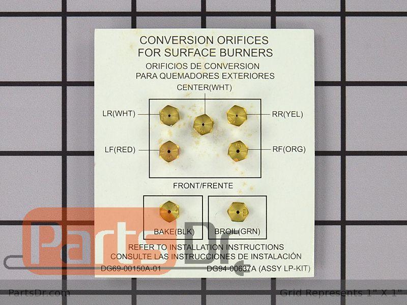 Samsung Range Lp Conversion Kit Instructions