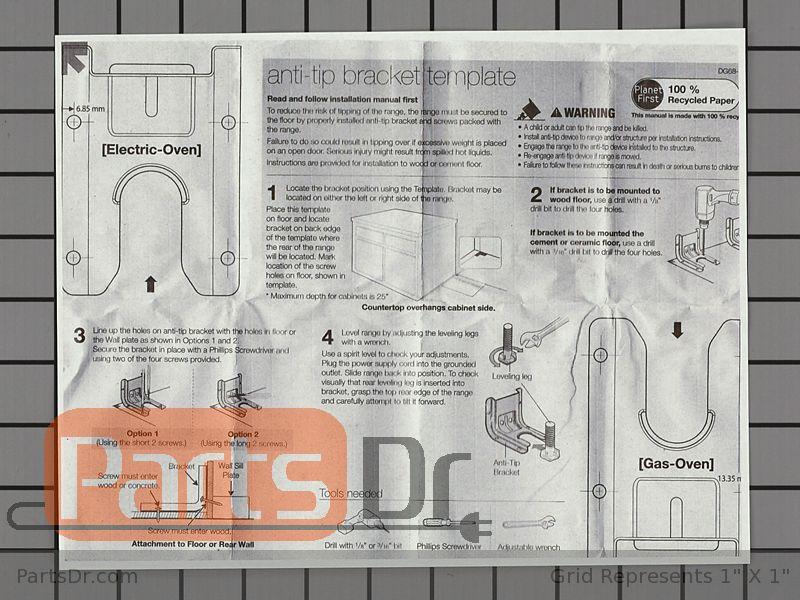 Dg94 00870b Samsung Anti Tip Bracket Kit Parts Dr