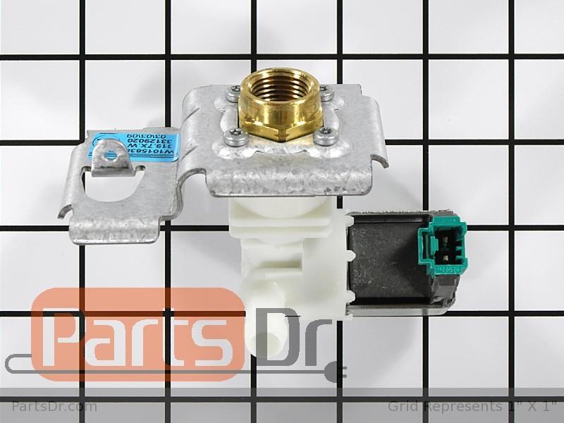 Wpw10158389 whirlpool water inlet valve parts dr - Roper washing machine water inlet valve ...