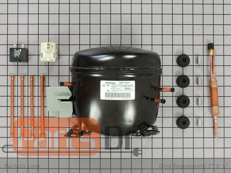 W10309989 Whirlpool Refrigerator Compressor Kit Parts Dr