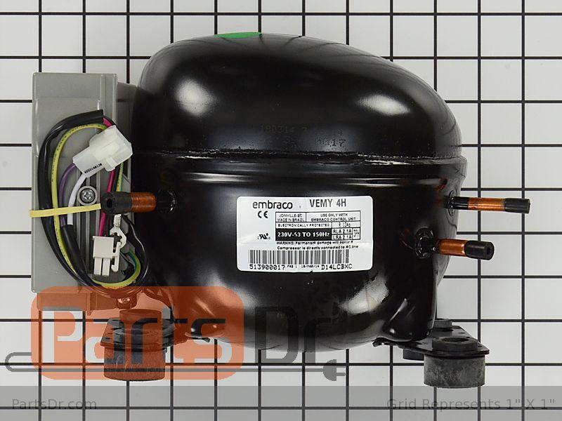 5304475104 Frigidaire Refrigerator Compressor Kit Parts Dr