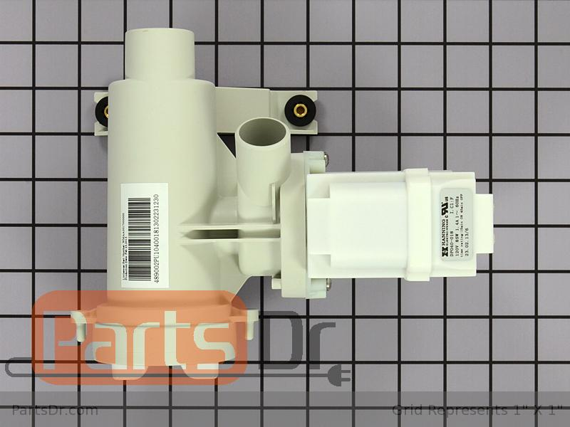 Wh23x10028 ge washer drain pump motor parts dr for How to test a washer drain pump motor