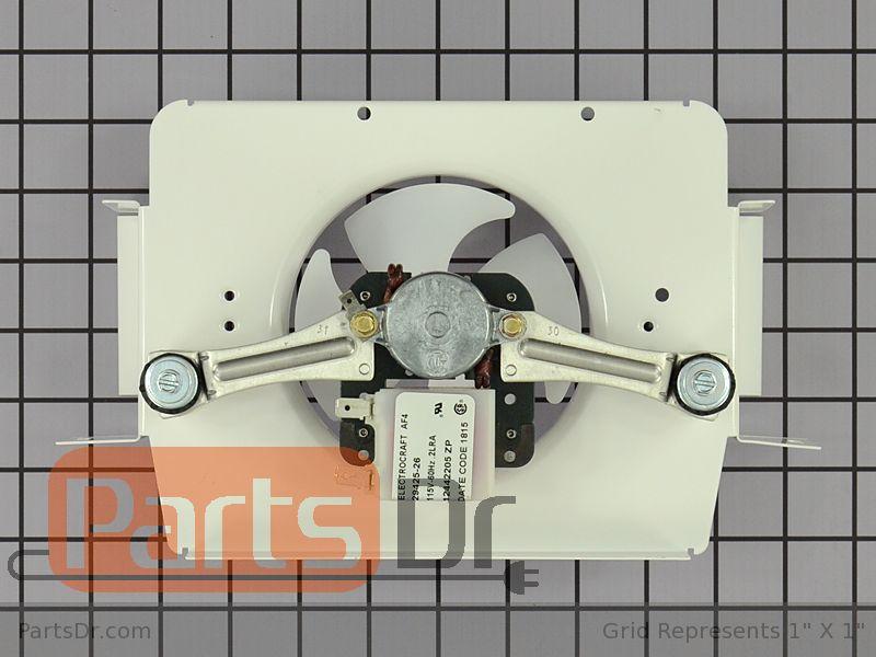 Wp12013211q whirlpool evaporator fan motor assembly for How to test refrigerator evaporator fan motor