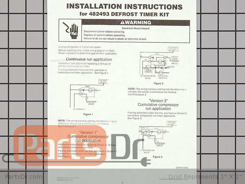Diagram  Refrigerator Defrost Timer Wiring Diagram Full