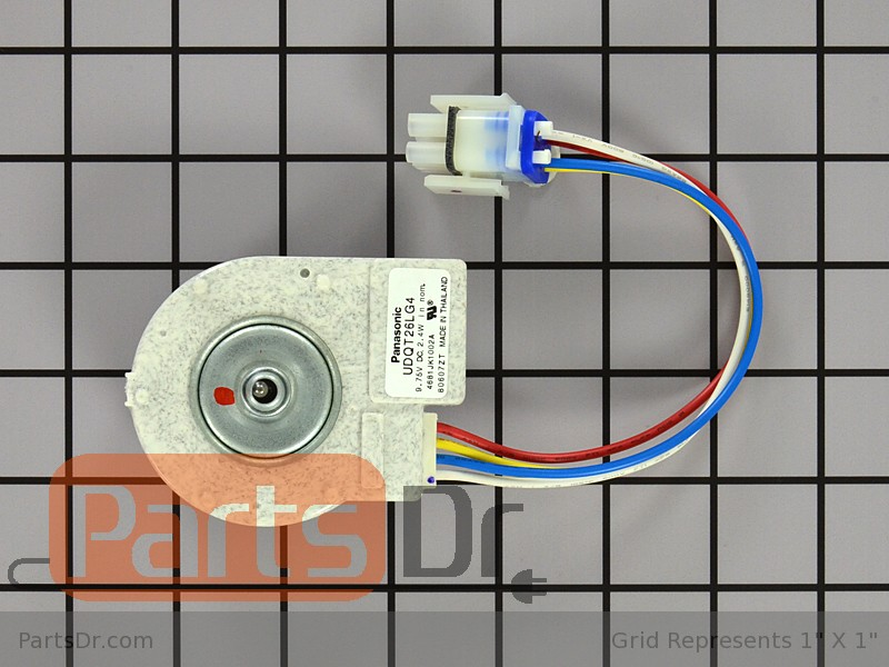 Wr60x10196 ge evaporator fan motor parts dr for Ge refrigerator evaporator fan motor replacement