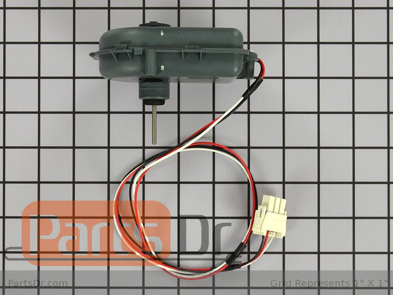 Wr60x10255 ge refrigerator evaporator fan motor parts dr for How to test refrigerator evaporator fan motor