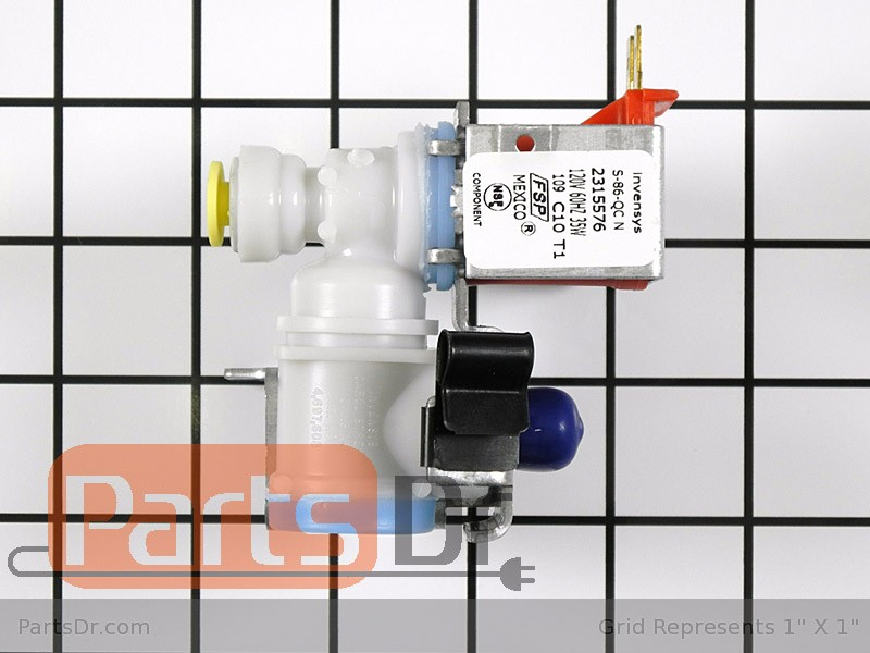 Whirlpool refrigerator water inlet valve parts dr