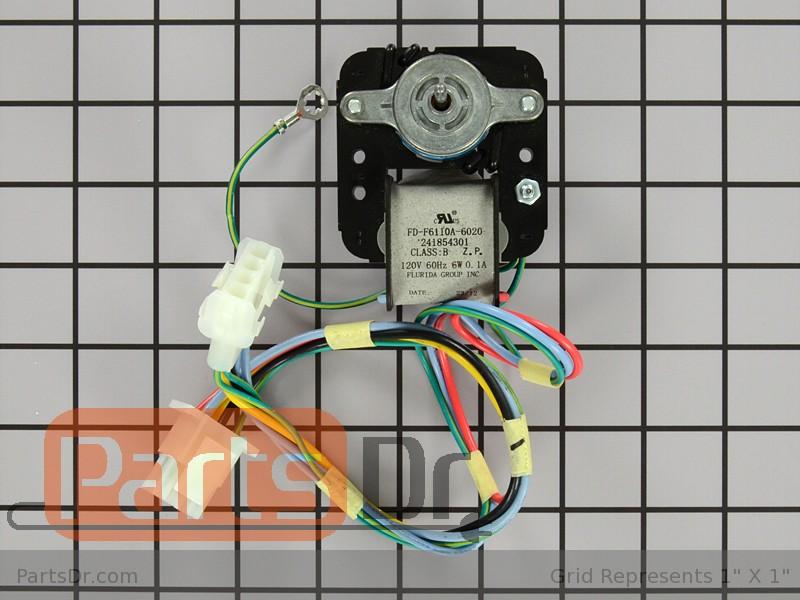 241854301 frigidaire evaporator fan motor parts dr for How to test refrigerator evaporator fan motor