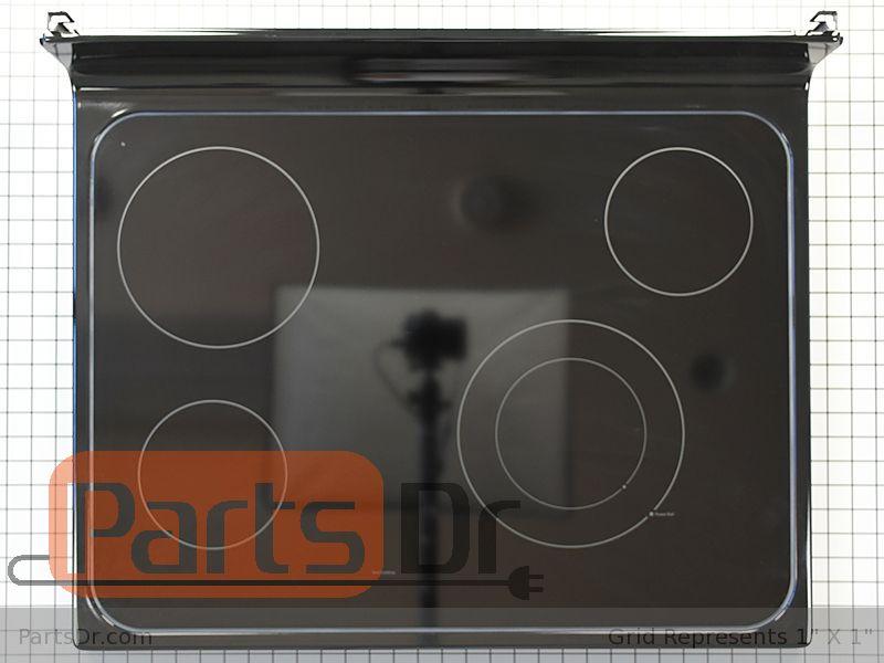 Wb62x20903 Ge Glass Main Top Black Parts Dr