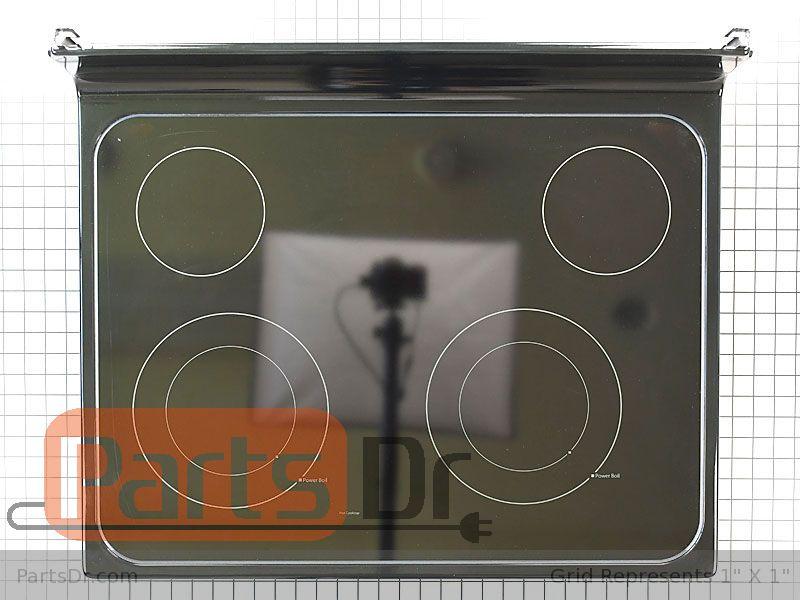 Wb62x26649 Ge Glass Main Top Black, Ge Glass Top Range Burner Replacement