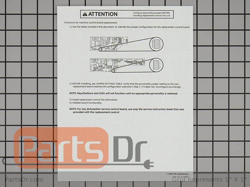 WD21X23459 - GE Main Control Board | Parts Dr