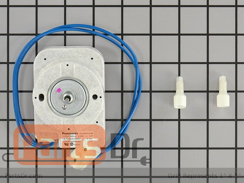 Wr60x10300 ge evaporator fan motor parts dr for Ge refrigerator evaporator fan motor replacement