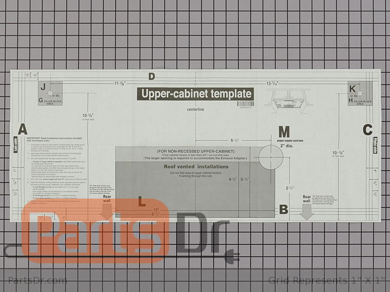 4922w5a057b Lg Upper Cabinet Template Parts Dr