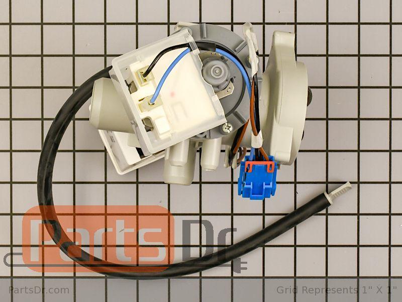 Black LG AHA72973309 LG-AHA72973309 Pump Assembly,Drain