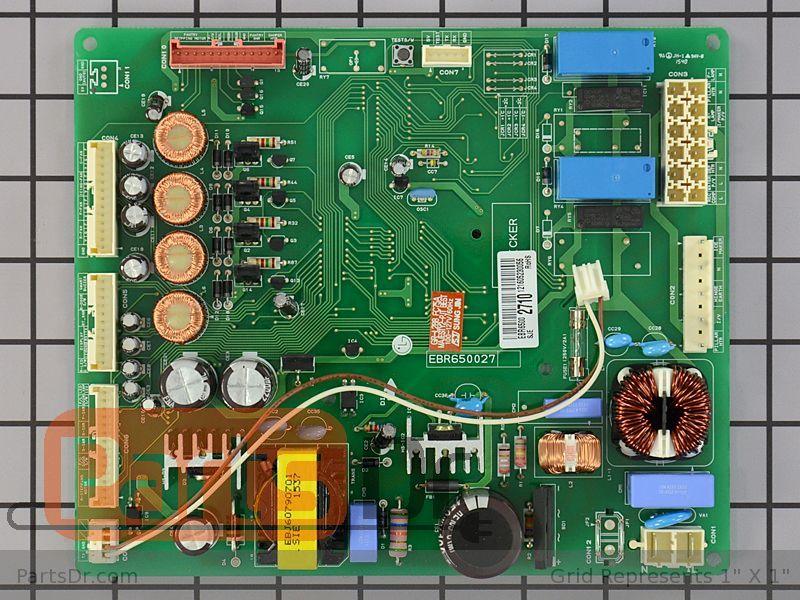 Genuine LG Refrigerator Main Electronic Control Board EBR65002710