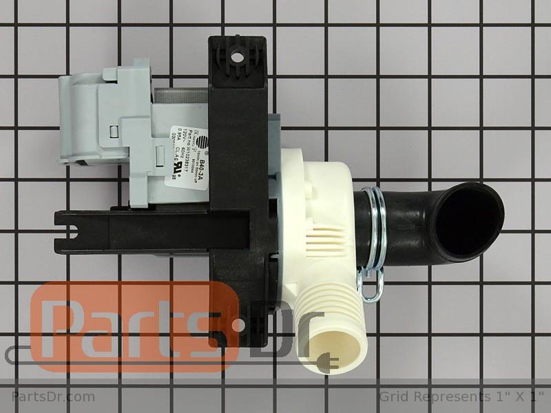 Whirlpool Pump Drain W10536347 for Cabrio wtw6800wb1 wtw7600xw2 wtw6400sw0 NEW