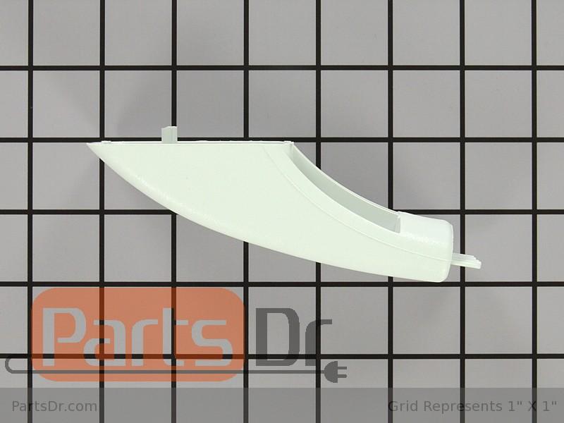 Wb07k10043 Ge Door Handle Endcap White Parts Dr