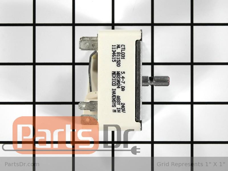 WB23M24 - GE Range Burner Infinite Switch | Parts Dr on