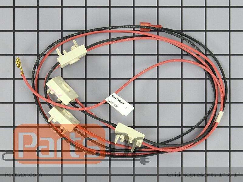 316219016 frigidaire burner switch wire harness parts dr