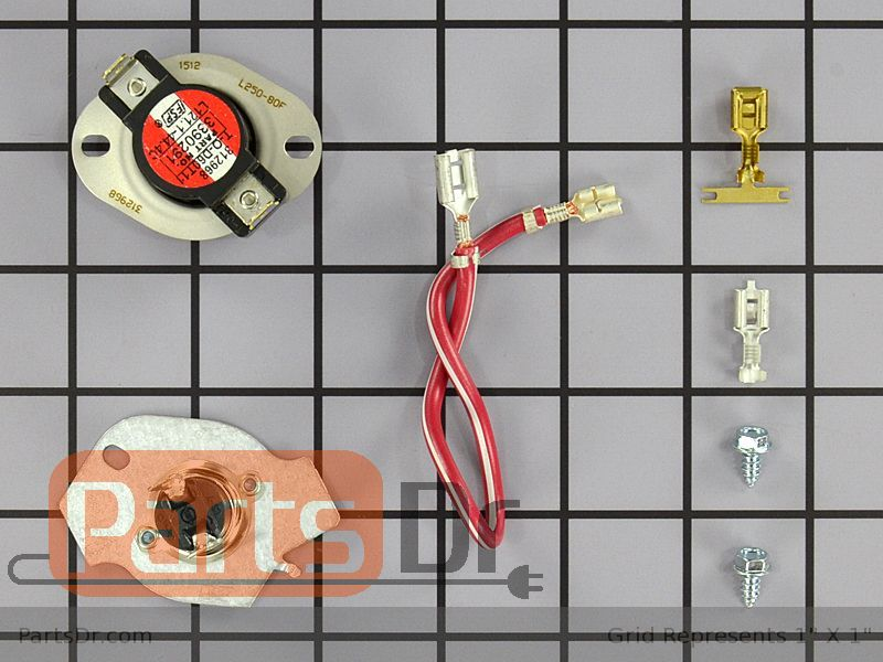 [SCHEMATICS_4LK]  279816 - Whirlpool Thermal Fuse & Thermostat Kit | Parts Dr | Roper Rex5634kq2 Dryer 4 Prong Wiring Diagram |  | Parts Dr