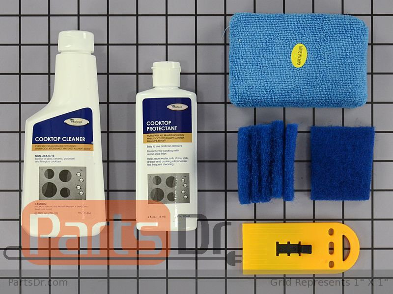 31605 - Whirlpool Glass Cooktop Cleaner Kit | Parts Dr