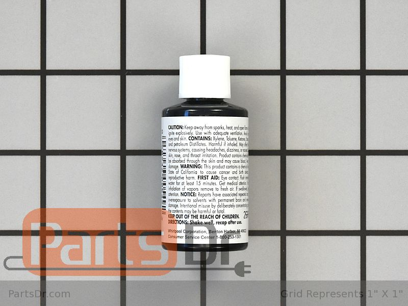72032 Whirlpool Black Appliance Touch Up Paint Parts Dr