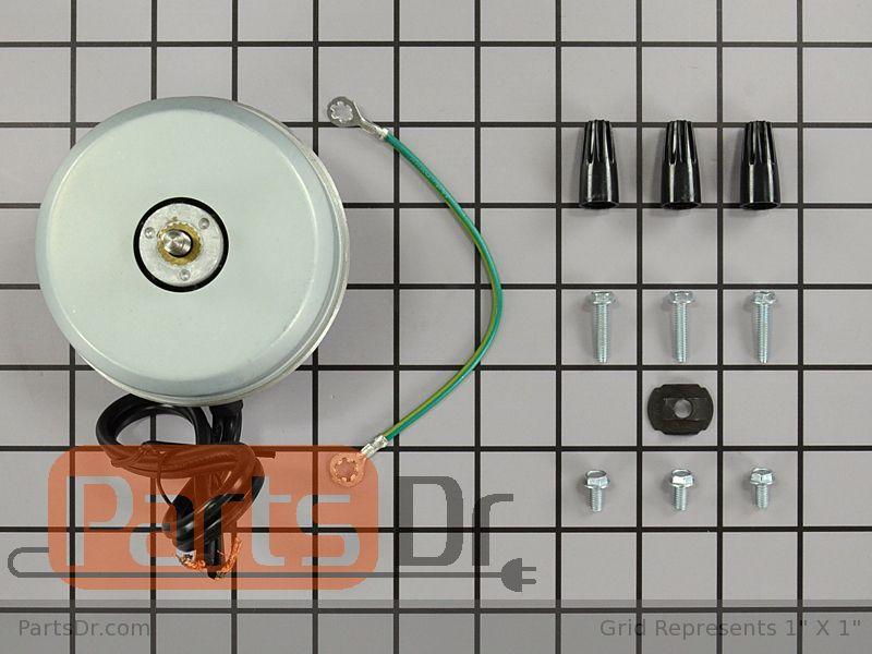 833697 - Whirlpool Refrigerator Condenser Fan Motor Kit | Parts Dr on