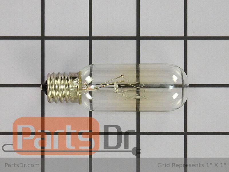 wpr0713676 whirlpool light bulb 40 watt parts dr. Black Bedroom Furniture Sets. Home Design Ideas