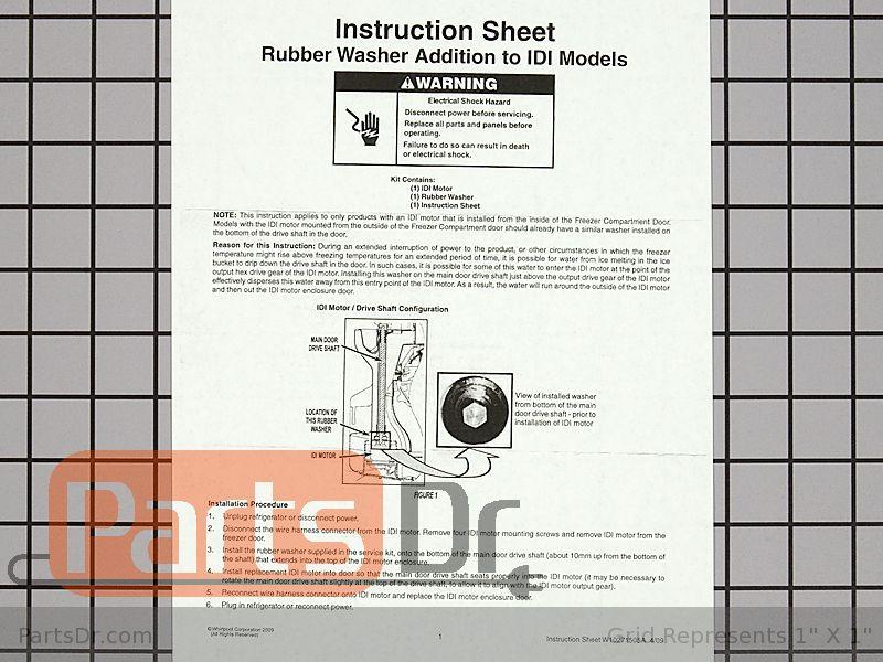 Ice Dispenser Auger Motor