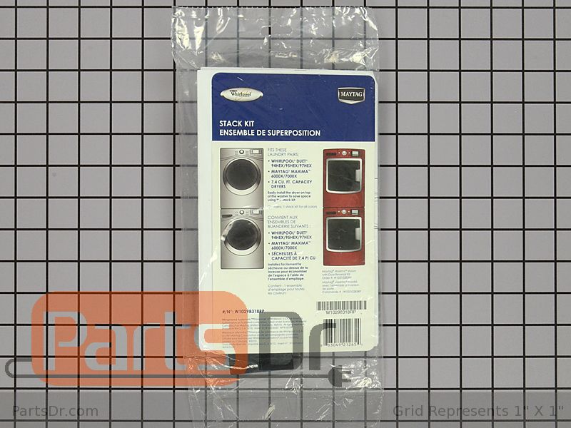 W10298318rp Whirlpool Stacking Kit Parts Dr