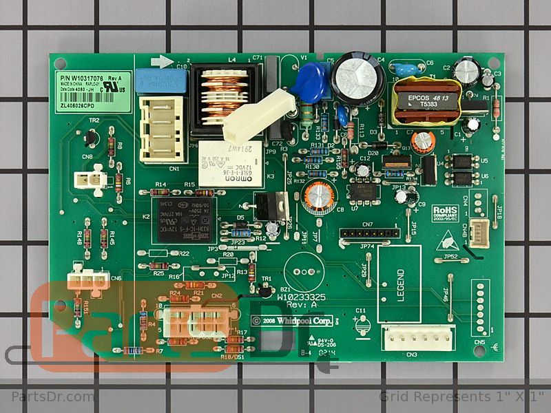 Wpw10317076 Whirlpool High Voltage Control Board Parts Dr