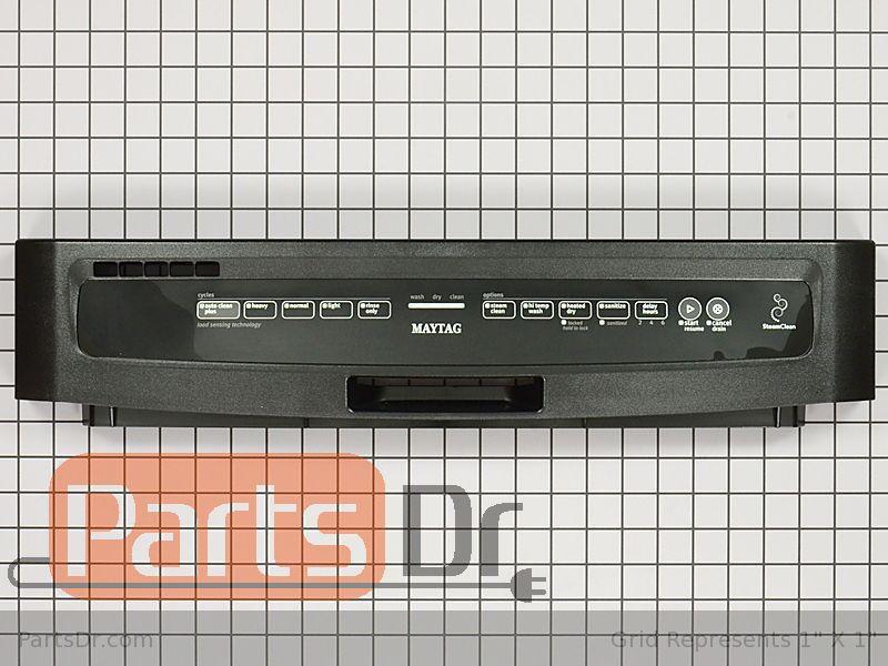W10811148 Maytag Control Panel Black Parts Dr