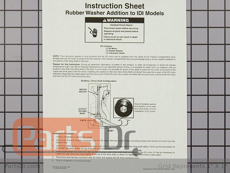 whirlpool 2315544 wiring schematic w10822635 whirlpool ice dispenser auger motor parts dr  whirlpool ice dispenser auger motor