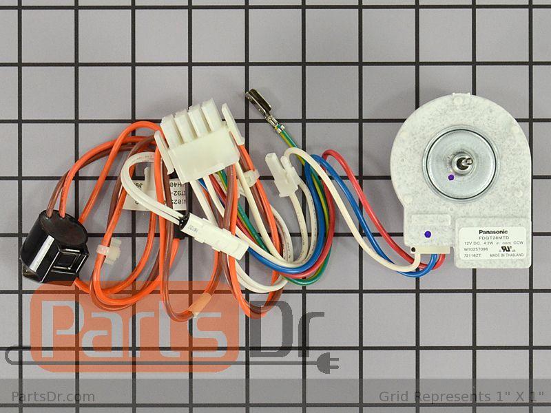W10850438 - Whirlpool Evaporator Fan Motor | Parts Dr on