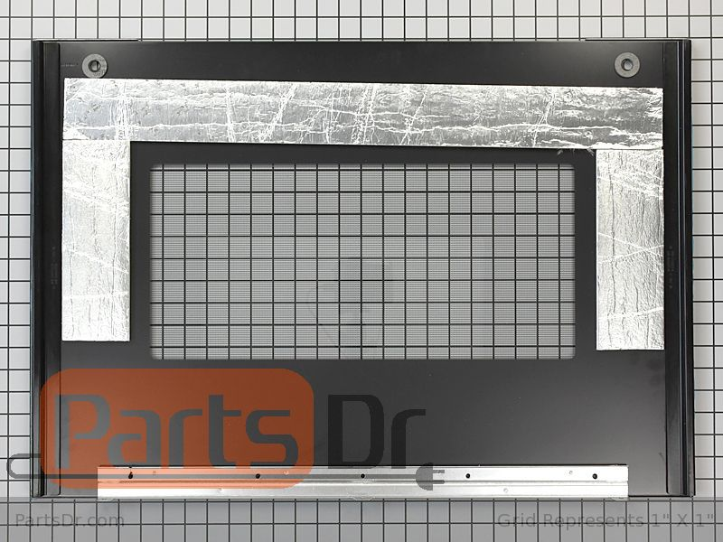 W10877566 Whirlpool Outer Door Glass Stainless Parts Dr