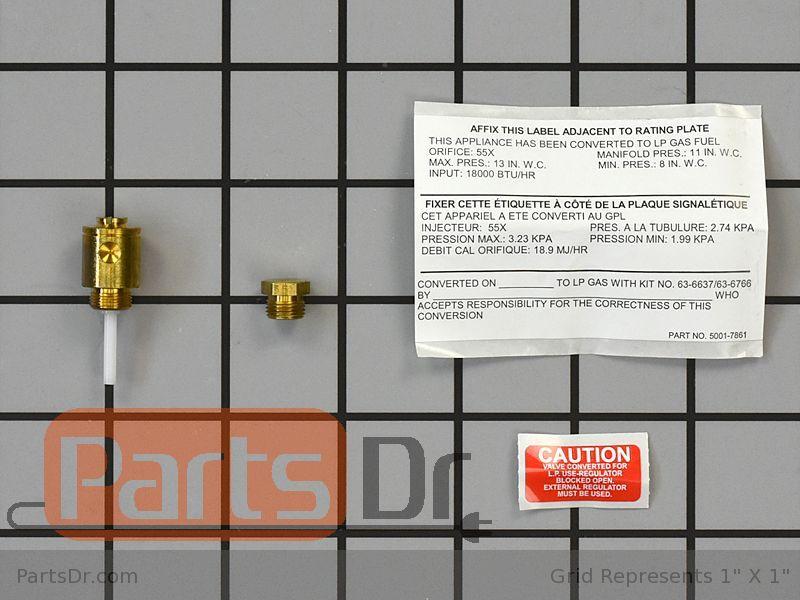 Dryer Parts Lp Gas Conversion Kit