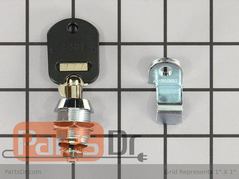 Wpw10114740 Whirlpool Service Door Lock Amp Key Parts Dr