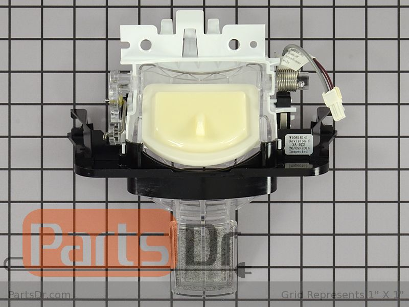 Wpw10616141 Whirlpool Ice Dispenser Door Black Parts Dr