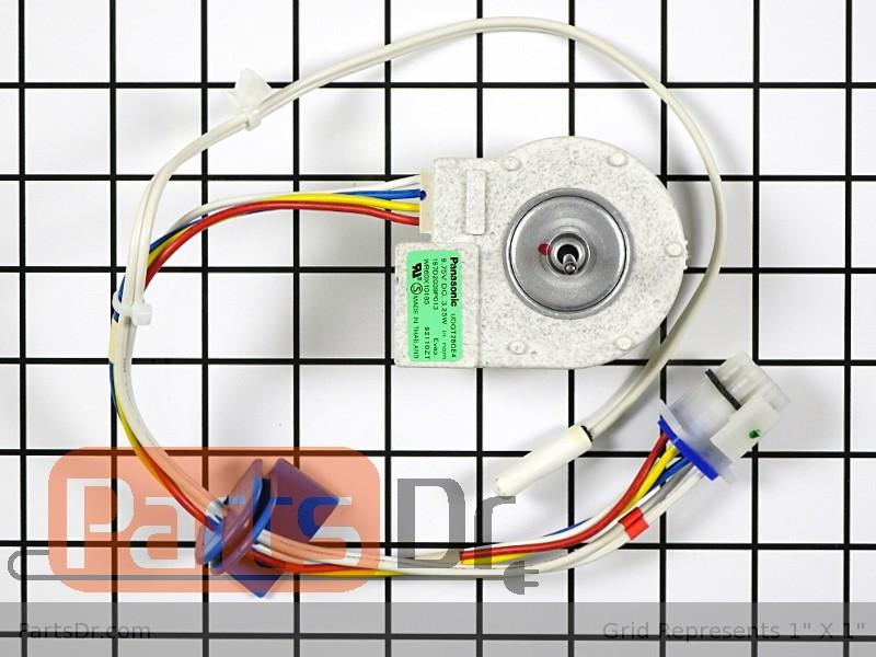 Wr60x10074 ge refrigerator evaporator fan motor parts dr for Ge refrigerator evaporator fan motor replacement